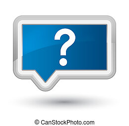 Question mark icon prime blue banner button