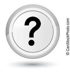 Question mark icon prime white round button