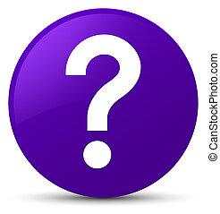 Question mark icon purple round button