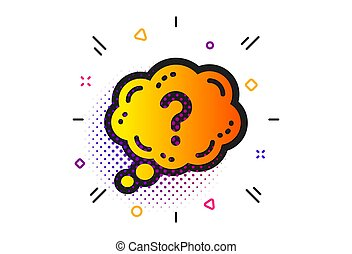 Question mark icon. Quiz chat bubble sign. Vector