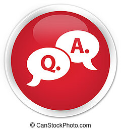 Question mark icon red button