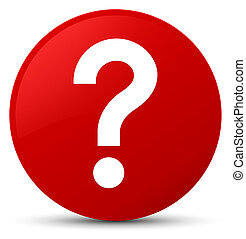 Question mark icon red round button