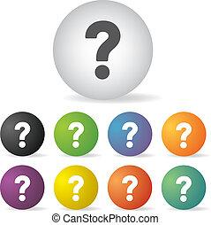 question mark icon set