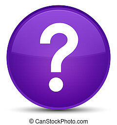 Question mark icon special purple round button