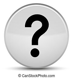 Question mark icon special white round button