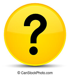 Question mark icon special yellow round button
