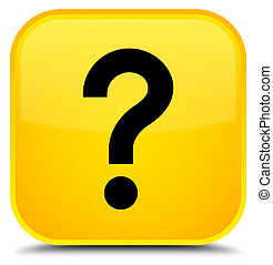 Question mark icon special yellow square button