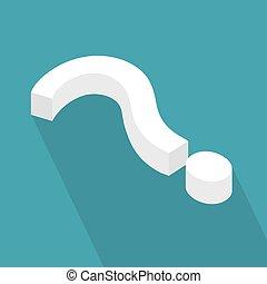 question mark icon - vector illustration