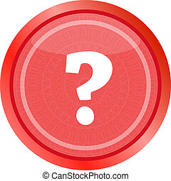 Question Mark Icon Web Button . Flat sign isolated on white background