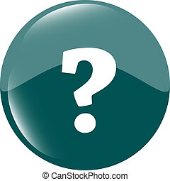 Question mark icon web button