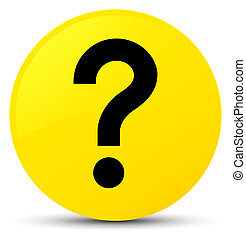 Question mark icon yellow round button