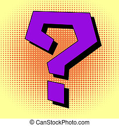 Question mark in pop art style