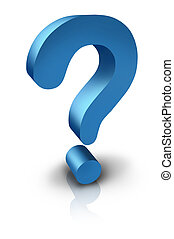 Question Mark in Three Dimension - Question mark in three ...