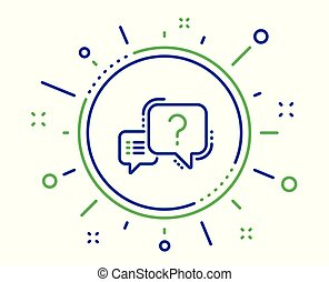 Question mark line icon. Quiz chat bubble sign. Vector