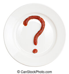 Question Mark Made Of Corn Seeds On Plate Question Mark