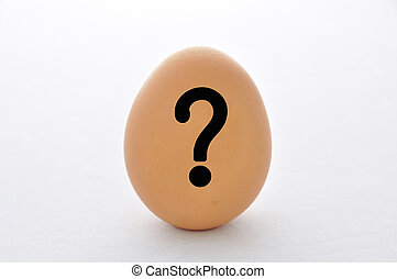 Question mark on the egg.