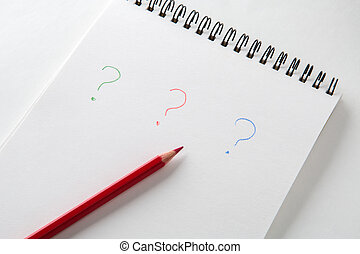 question mark on the white background