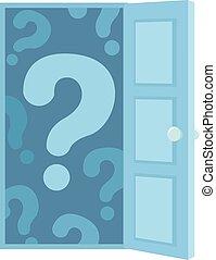 Question Mark Open Door Illustration