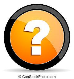 question mark orange icon