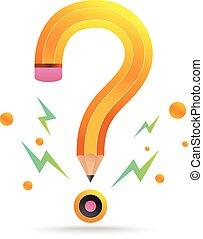 Question mark pencil