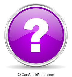 question mark pink glossy icon