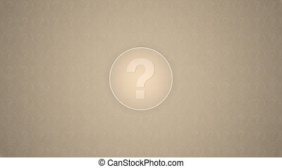 Question Mark - Question mark inside a circle trasitions in...