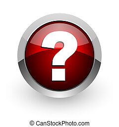 question mark red circle web glossy icon