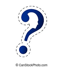 question mark shape head image vector illustration eps 10