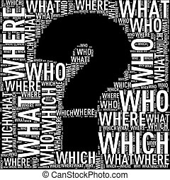 Question mark shape wordcloud wordtags