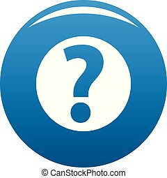 Question mark sign icon blue vector