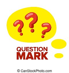 Question Mark Sign Icon Vector. Thinking Concept. Find Idea, Solution. Isolated Flat Cartoon Illustration