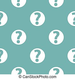 Question mark sign pattern seamless blue