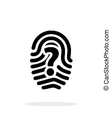 Question mark sign thumbprint icon on white background....