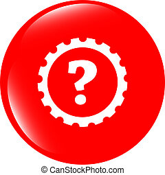 question mark sign, web button isolated on white