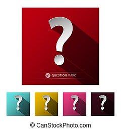 Question Mark Symbols Set Isolated on White Background
