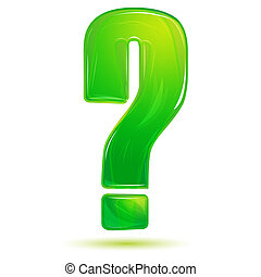 question mark - illustration of vector question mark on...