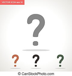 question mark vector icon isolated on white background