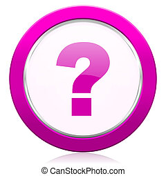 question mark violet icon ask sign