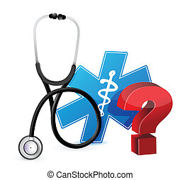question mark with a Stethoscope