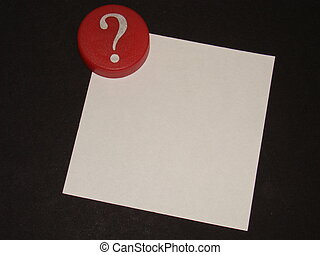 Question Mark with Notepaper