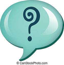 question  mark with speech bubbles