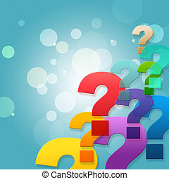 Question Marks Shows Frequently Asked Questions And Asking -...