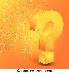 question, marque jaune