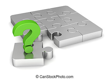 question puzzle 3d illustration