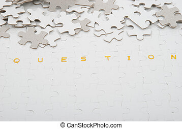 Question puzzle - Representation of a difficult or puzzling...