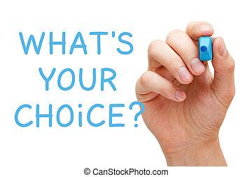 question, quel, ton, choix, concept