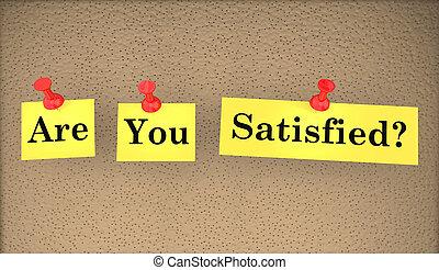 question, satisfait, illustration, mots, vous, heureux, 3d