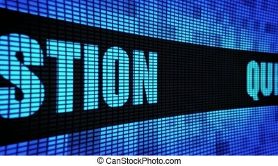 Question Side Text Scrolling LED Wall Pannel Display Sign...