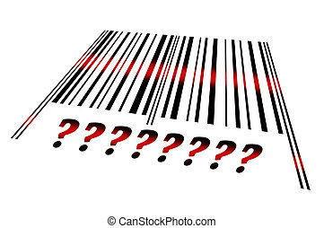 Question sign on barcode