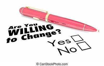 question, stylo, illustration, boîtes, disposé, adapter, vous, chèque, changement, 3d